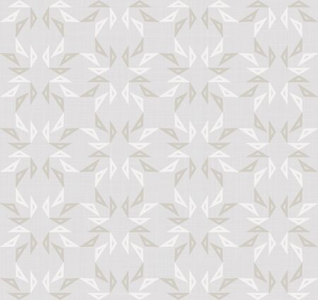 French Gray Linen Chevron Stripe Texture Background. Ecru Flax Seamless Pattern. Ikat Kelim Edge Line Swatch. Off White Unbleached Gray Cloth Effect. Natural Monochrome  イラスト・ベクター素材