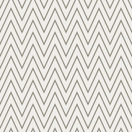 French Linen Chevron Stripe Texture Background. Ecru Flax Seamless Pattern. Ikat Zig Zag Edge Line Swatch. Off White Unbleached Gray Cloth Effect. Natural Monochrome Repeat Tile Vector  イラスト・ベクター素材