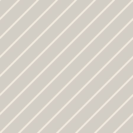 Diagonal Stripe Unbleached White Gray French Linen Texture. Regular Tone on Tone Line Seamless Pattern Swatch Background. Off White Minimalistic Cloth Effect. Repeat Tile Vector