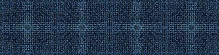 Embroidery Boro Patch Kantha Vector Border Pattern. Asian Needlework Seamless Background Indigo Blue. Sashiko Running Hand Stitch Texture Textile Trim. Japan Decor. Masculine Ribbon Trim.