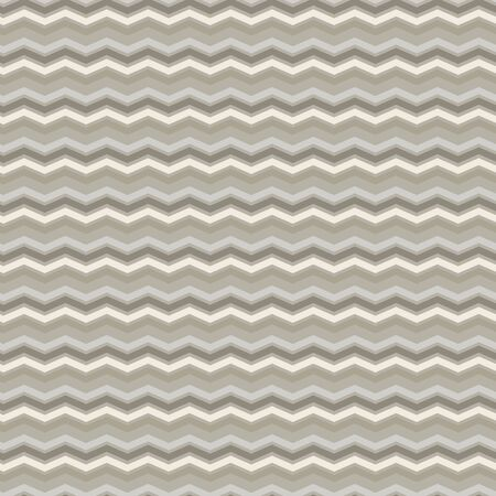 French Linen Chevron Stripe Texture Background. Ecru Flax Seamless Pattern. Ikat Zig Zag Edge Line Swatch. Off White Unbleached Gray Cloth Effect. Natural Monochrome Repeat Tile