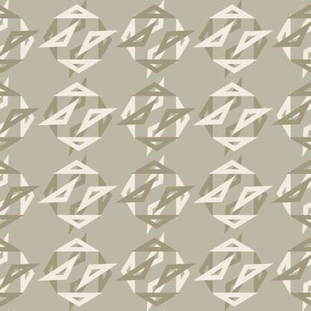 Seamless Polka Dots All Over Print Vector Texture. Modern Triangle Geometric Circle. Repeating Abstract Spotty Pattern Background. Playful Fun Dot in Gray French Linen Color. Vector Wallpaper  イラスト・ベクター素材