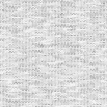 White Grey Marl Knit Melange. Heathered Texture Background. Faux Knitted Fabric with Vertical T Shirt Style. Seamless Vector Pattern. Light Gray Space Dye for Textile Effect.