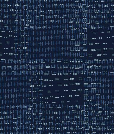 Embroidery Boro Patch Kantha  Pattern.  イラスト・ベクター素材
