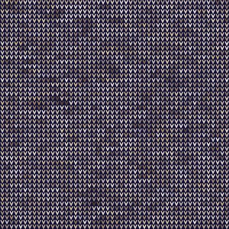Knitted Marl Variegated Heather Texture Background. Denim Gray Blue Blended Line Seamless Pattern.