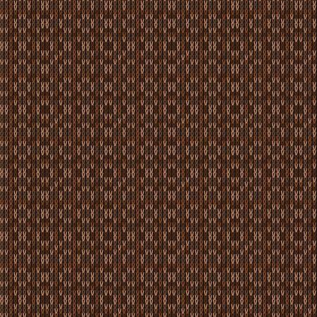 Brown Heather Marl Knit Texture Background. Blanket Stitch Seamless Pattern. Homespun Faux Woolen Fabric Structure Textile. Monochrome Yarn Melange All Over Print. Иллюстрация