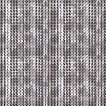 Gray Marl Blanket Knit Stitch Seamless Pattern. Homespun Handicraft Background. For Woolen Fabric, Camo Gender Neutral Grey Textile. Soft Monochrome Yarn Melange Scandi All Over Print.