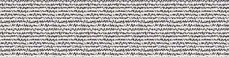 Scribble Line Stripe Banner. Rough Striped Texture Border Background. Ecru Seamless Pattern. Organic Horizontal Irregular Hand Drawn Wriggle .