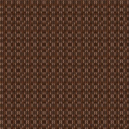 Brown Heather Marl Knit Texture Background. Blanket Stitch Seamless Pattern. Homespun Faux Woolen Fabric Structure Textile. Monochrome Yarn Melange All Over Print. Stock Illustratie