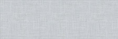 Knit Grey Marl Texture Border on Variegated Heather Background. Denim Blue Blended Line Seamless Pattern. For Woolen Fabric Ribbon, Nordic Textile Banner, Triblend Melange Edging. Illustration