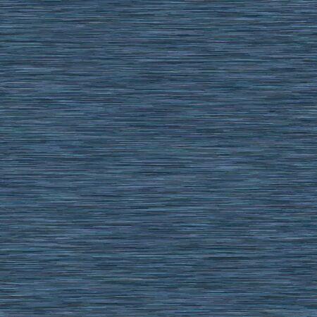 Classic Blue Dark denim marl seamless pattern. Jeans texture fabric textile background. Masucline Faux Cotton melange t shirt all over print Illustration