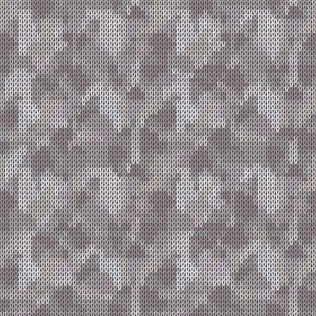 Gray Marl Blanket Knit Stitch Seamless Pattern. Homespun Handicraft Background. For Woolen Fabric, Camo Gender Neutral Grey Textile. Soft Monochrome Yarn Melange Scandi All Over Print Illustration