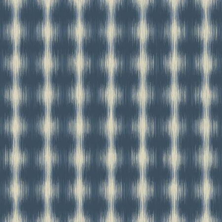 Ikat Polka Dot Marl Variegated Texture Background. Denim Indigo Gray Blue Blended. Faded Acid Wash Seamless Pattern. Bleeding Tie Dye Effect Textile, Melange All Over Print. Illustration