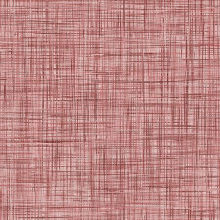 Red French Linen Texture Background. Ecru Woven Textile Fibre Seamless Pattern. Organic Yarn Close Up Weave Fabric. Criss Cross Effect Natural Textile Backdrop. Swatch Tile.