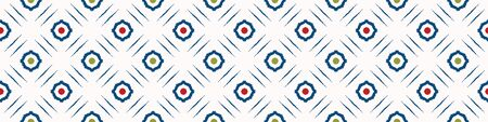 Portuguese Mosaic Tile Seamless Border Pattern. Ceramic Azulejo Style. Tiled Motif Graphic Banner. Traditional Portugal Tourism Ribbon Trim.Travel Brochure Background. Packaging.