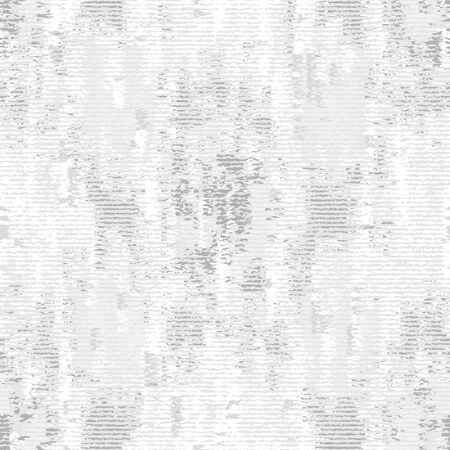 Monochrome Irregular Noisy Woven Effect Textured Background. Rough Graphic Distressed Weave Effect Seamless Pattern. Vector Repeat . Ilustração
