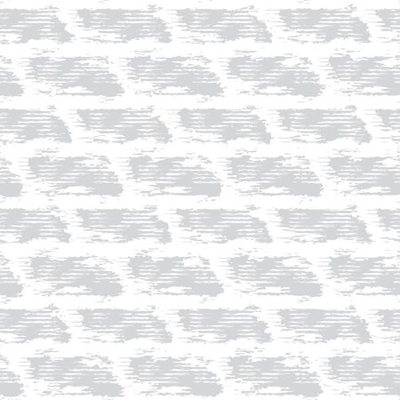 Grey White Monochrome Irregular Brick Wall Texture Background. Rough Distressed Stone Effect Melange Seamless Pattern. Achromatic Neutral Grunge Geo All Over Print. Vector Repeat Tile EPS 10