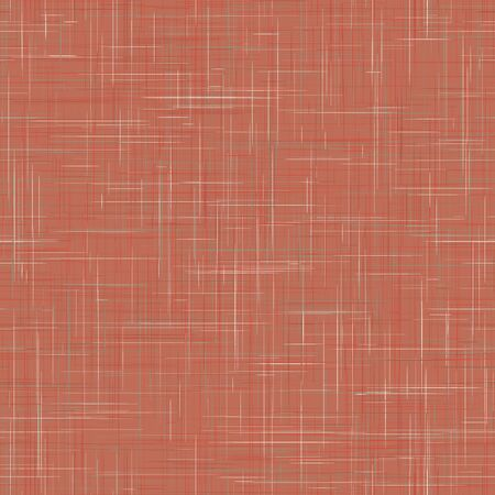 Red French Linen Texture Background in Natural Muted Madder Dye. Ecru Flax Fibre Seamless Pattern. Organic Close Up Weave Fabric for Wallpaper, Cloth Packaging. Repet Tile. 일러스트