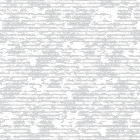 Grey White Monochrome Irregular Brick Wall Texture Background. Rough Distressed Stone Effect Melange Seamless Pattern. Achromatic Neutral Grunge Geo All Over Print. Vector Repeat Tile. Ilustração