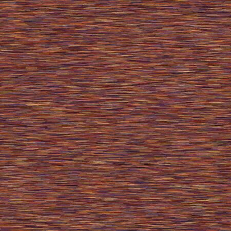 Marl Space Dyed Ombre Background. Texture. Brown Mottled Effect Seamless Pattern. Vibrant Horizontal Stripe Ikat Textile. Multicolored Heathered Melange Line Allover Print. Vector.
