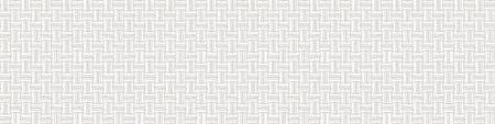 Cream Gray Vector French Linen Texture Banner Background. Old Ecru Flax Fibre Seamless Border Pattern. Woven Ribbon Geo Criss Cross Line Weave Fabric. Neutral Ecru Burlap Cloth Ribbon Trim Edge