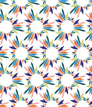 Hand Painted Bold Summer Bloom Floral Motif Seamless Pattern. Classic Blue Pink Flower Petal Background. Modern Bright Cut Out Collage Style Textile. Exotic Tropic All Over Print Vector.