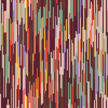 Blotched Space Dyed Ombre Background. Texture. Mottled Line Effect Seamless Pattern. Vibrant Vertical Stripe Ikat Textile. Multicolored Heathered Melange Marl Allover Print. Vector Repeat Tile