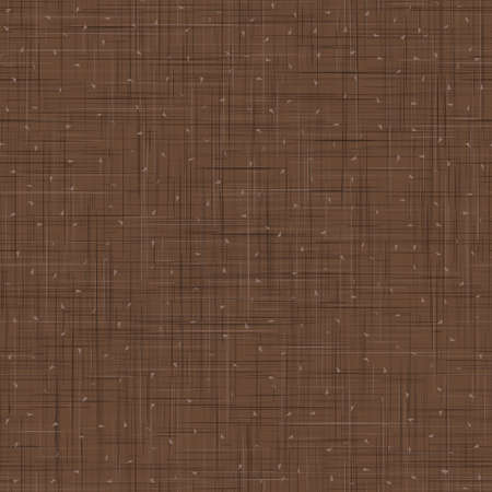 Dark Brown French Linen Texture Background. Variegated Flax Fibre Seamless Pattern. Organic Yarn Close Up Weave Faux Fabric for Wallpaper, Sack Cloth Packaging, Canvas.