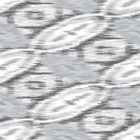 White Grey Marl Heather Texture Background. Faux Cotton Fabric with Diagonal Stripe Style. Vector Pattern Design. Salt and Pepper Gray Melange Space Dye for Textile Effect.