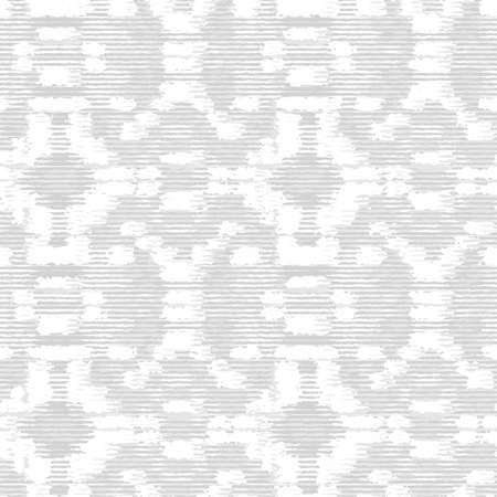 Grey White Monochrome Irregular Tapestry Kelim. Woven Effect Melange Textured Background. Rough Damask Rug Graphic Distressed Weave. Seamless Distressed Pattern. Stock Illustratie