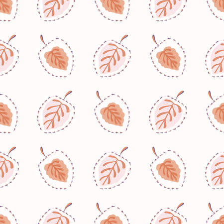 Floral Leaf Motif Watercolor Background. Seamless Vector Pattern Pastel on White. Delicate Boho Leaves Hand Drawn for Textile Print, Beautiful Spring Home Decor. Aquarelle Artwork Repeat Tile