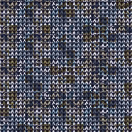 Bleach Knitted Marl Variegated Heather Texture Background. Denim Gray Blue Blended. Faded Acid Wash Seamless Pattern. For Woolen Fabric, Tie Dye Effect Textile, Melange All Over Print. Vector .