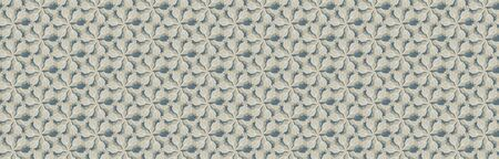 Beige Grey Naive Daisy Bloom Seamless Border Pattern. Hand Drawn Monochrome Floral background. Neutral muted tones. Japanese Bloom Wagara Washi Tape .Daisies Flower Textile Ribbon.
