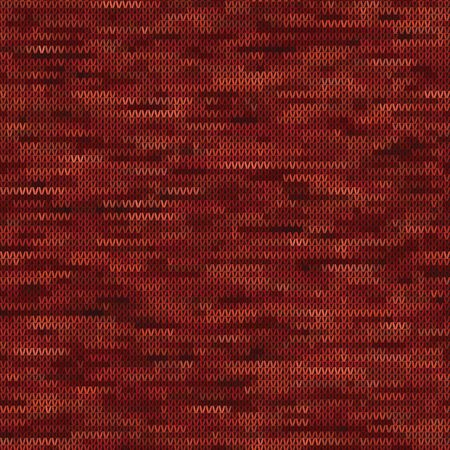 Knitted Marl Variegated Heather Texture Background. Red Maroon Blended Line Seamless Pattern. For Woolen Fabric, Cozy Winter Nordic Textile, Triblend Melange Scandi All Over Print.