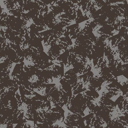 Seamless painterly worn vector texture pattern. Modern hand drawn scratch brush stroke marks shape. Repeating abstract background. Trendy masculine brown grunge textile. All over print swatch.