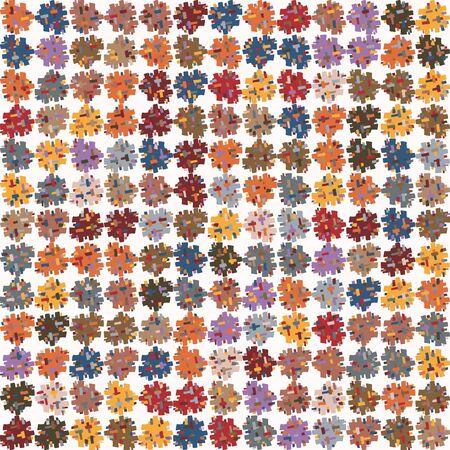 fun pompom polka dot  texture background. Summer nature feminine speckled seamless pattern. 向量圖像