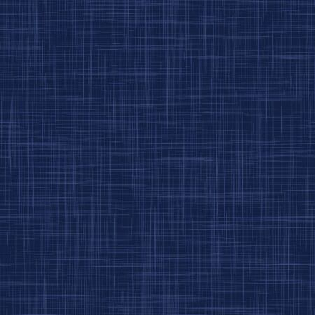 Classic Blue French Linen Texture Background. Dark Denim Blu Dye Fibre Seamless Pattern. Organic Yarn Close Up Weave Effect Fabric for Masculine Jeans Textile Wallpaper, Packaging. Vector EPS10 Repeat