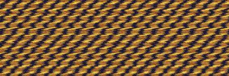 Metallic Space Dyed Glow Rope Twist Stripe Banner Background. Texture. Mottle Effect Seamless Border Pattern. Vibrant Diagonal Line Ikat Textile. Gold Melange Chevron Edging. Vector Ribbon Trim.