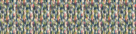 Blotched Space Dye Broken Stripe Seamless Banner Pattern. Mottled Variegated Melange Border Background. Random Vertical Rough Distressed Line Wallpaper. Masculine Striped ribbon Trim Edging Eps 10