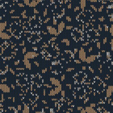 Dark tweed knit stitch effect vector texture. Masculine dark gray seamless woven pattern. Hand knitting sweater material. Close up leaf textile craft background. Homespun wool allover print swatch.