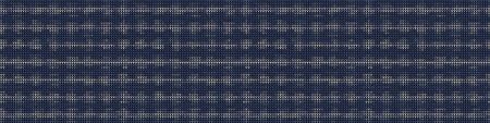 Vertical Stripe Variegated Texture Border Background. Denim Gray Blue Blended Line Seamless Pattern. Masculine Banner, Bleach Faded Dye Textile. For Trendy Triblend Melange Ribbon \trim.