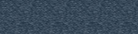Classic blue denim marl vector seamless border pattern. Heathered jeans camouflage effect. Dark indigo space dyed texture. Fabric textile banner background. Cotton blu melange t shirt ribbon trim edge