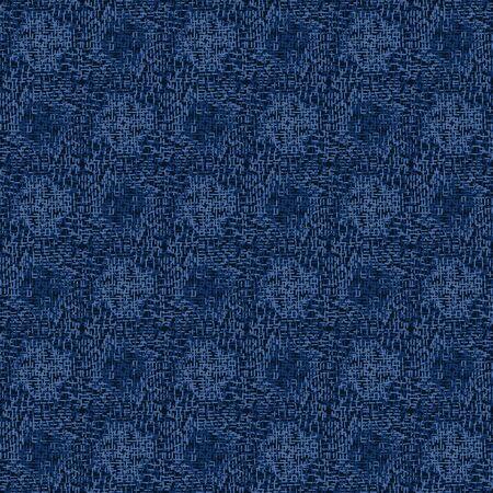 Boro Fabric Patch Kantha Vector Texture. Darning Embroidery Needlework Seamless Background. Indigo Blue Dye. Sashiko Running Stitch Pattern Textile Print. Japan Fashion Masculine Quilting.