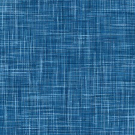 Denim French Linen Texture Background. Indigo Blue Dye Fibre Seamless Pattern. Organic Yarn Close Up Weave Effect Fabric for Masculine Jeans Textile Wallpaper, Packaging.