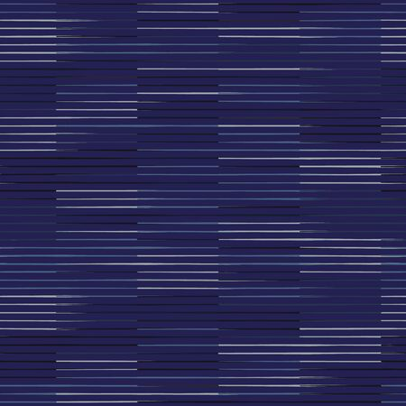 Spliced vector broken stripe texture. Variegated mottled check grid line background. Seamless rough grunge pattern. Distorted masculine shirting all over print. Fashion textile disrupted glitch repeat