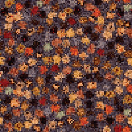 Spliced vector broken colorful pixel texture background. Variegated mottled dotted line seamless pattern. Distorted graphical geometric all over print. Modern digital dot disrupted glitch repeat.