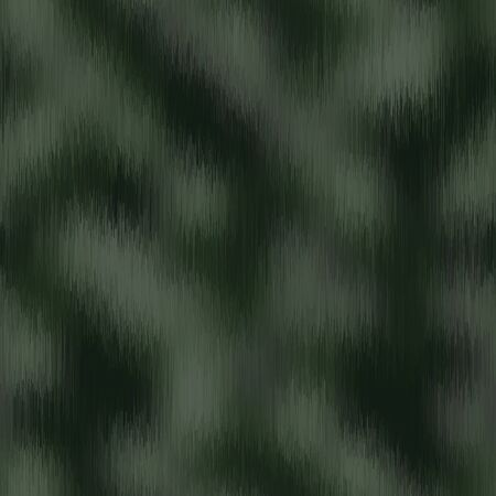 Blurred vector camouflage blend texture. Variegated mottled background. Seamless camo pattern. Modern distorted masculine textile all over print. Military green fashion disrupted glitch repeat.