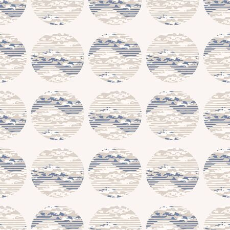 Grey french linen vector polka dot texture seamless pattern. Brush stroke grunge shappy chic abstract background. Country farmhouse style textile. Irregular distressed dotty spot mark allover print.