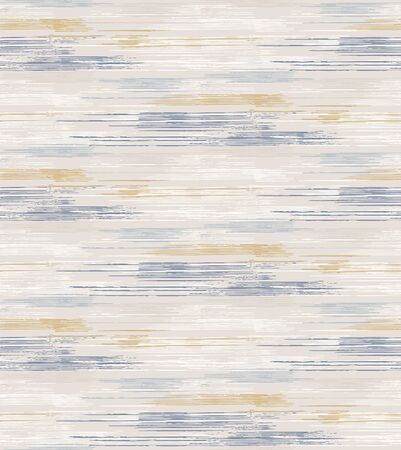 Grey french linen vector broken stripe texture seamless pattern. Brush stroke grunge ornamental abstract background. Country farmhouse style textile. Irregular distressed striped mark allover print.