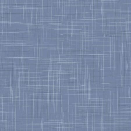 Worn french blue woven linen texture background. Old ecru flax fibre seamless pattern. Organic yarn close up weave fabric textile backdrop. Washed denim burlap fine textured canvas. Vector repeat tile